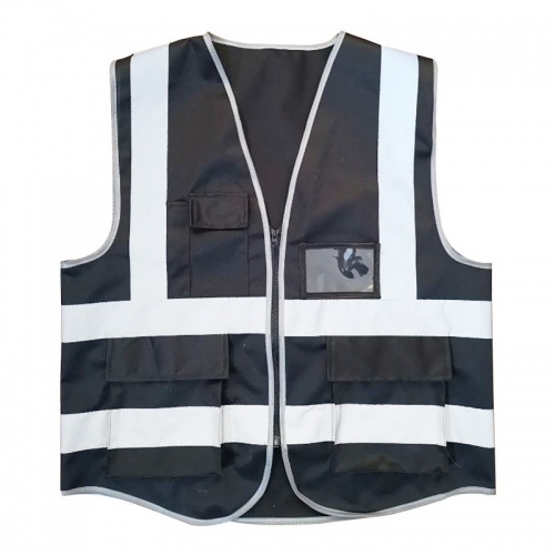 construction vest safety vest reflective with pock...