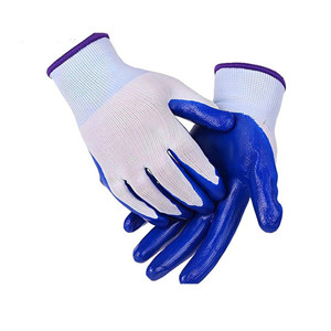 nitrile coated safety work glove